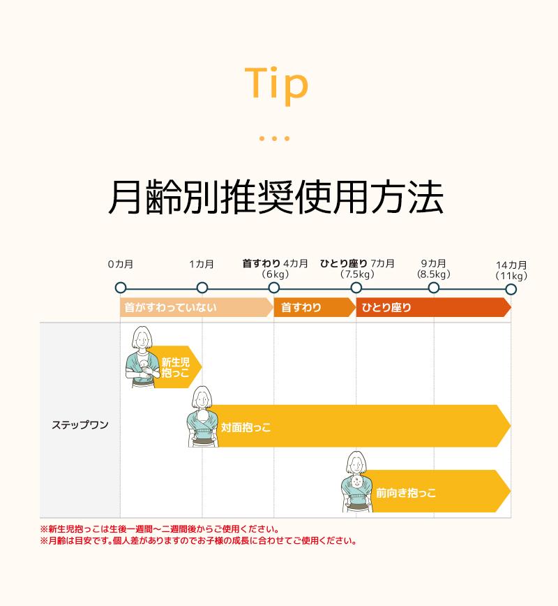 ポグネーステップワン月齢別使用方法