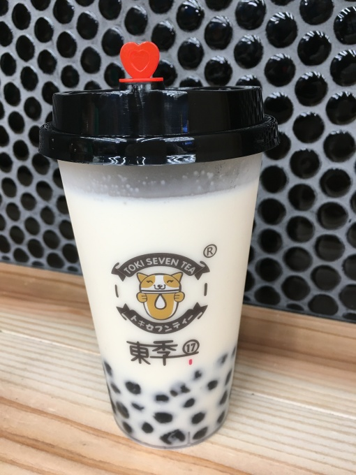 中野のタピオカTOKI SEVEN TEA中野店ほうじ茶ミルクティー