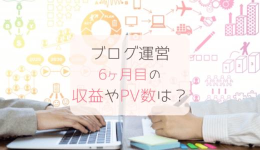 ブログ運営6ヶ月目の収益報告【専業主婦ブロガー】