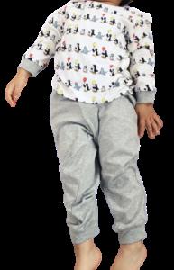 ユニクロのピングーパジャマサイズ100の着用感