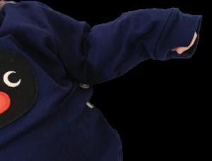 ユニクロのピングーパジャマのサイズ80の袖