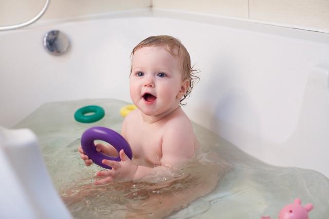 2歳差のお風呂の入れ方