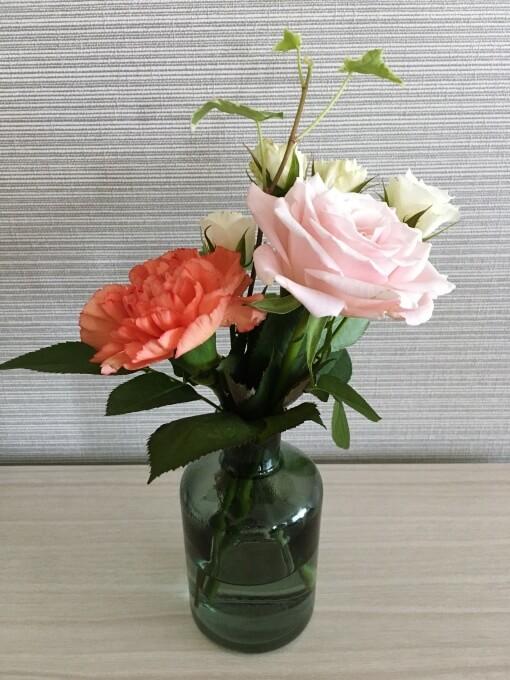 ブルーミーライフ1回目のお花
