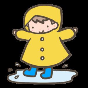 幼稚園には雨の日も通う